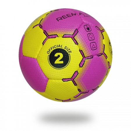 Easy Grip | Size 3 hand stitched Hand ball Magenta and Yellow