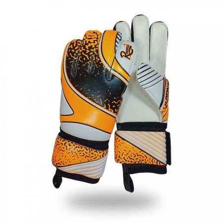 Eliminator Soft   white background light orange and black hand gloves