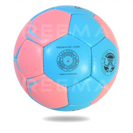 Elite 2020 | Light Blue and Pink Hand ball with white background