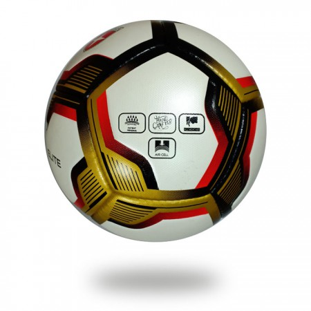 Elite | white gold customized logo name size football for Club