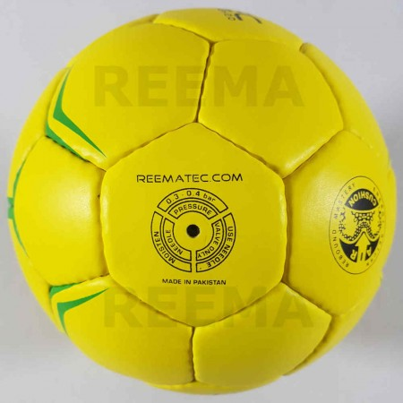 Flash Junior | Hand stitched mini handball size 0 in yellow color with white background