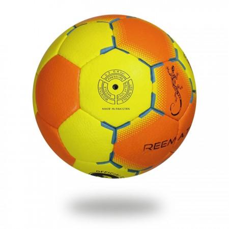 Flash | White background Yellow and Orange Hand ball size 3
