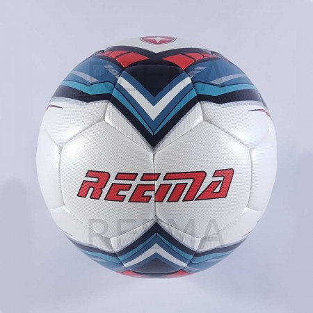 Force | White PU Printed with new design blue and red color football