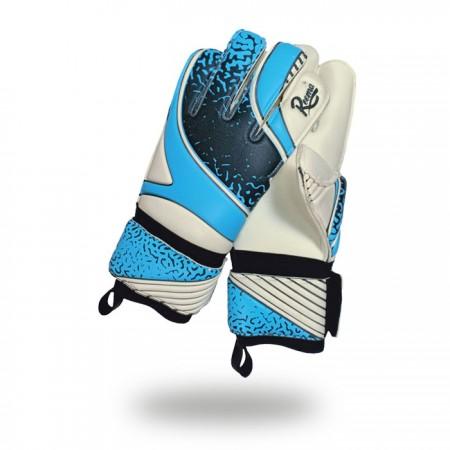 Fusion Evolution |solid grip light blue black goalkeeper gloves