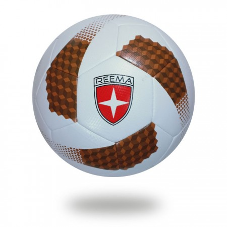 Futsal Cosmos | FIFA Quality soccer ball withe saddlebrown and sienna cube