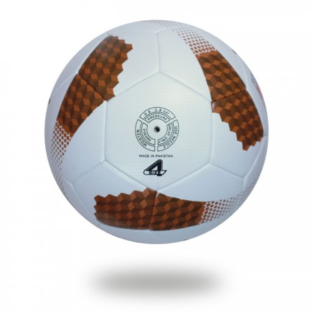Futsal Cosmos | saddlebrown and sienna cube on white cover of football for training player