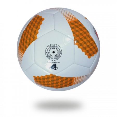 Futsal Liga | 32 panel soccer ball chocolate and orange ladder design printed