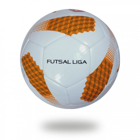 Futsal Liga | 32 panel football chocolate and orange ladder design printed