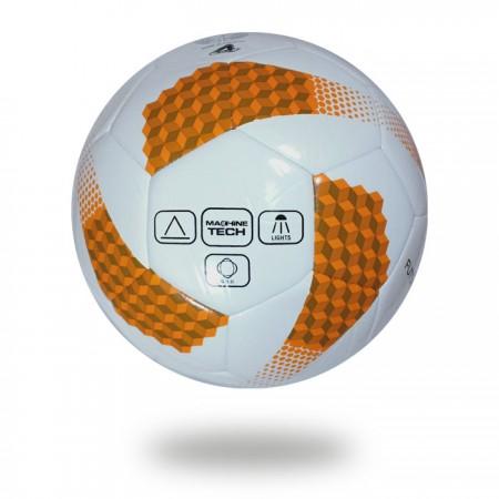 Futsal Liga | chocolate and orange ladders design printed on white PU football