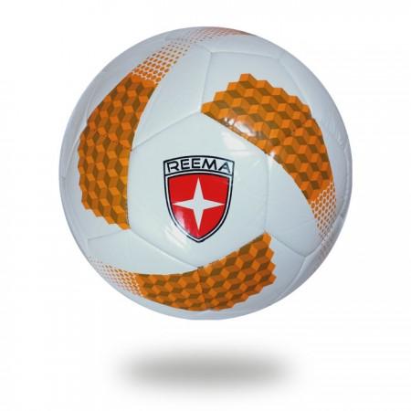 Futsal Liga | chocolate and orange ladders design printed on white PU soccer ball