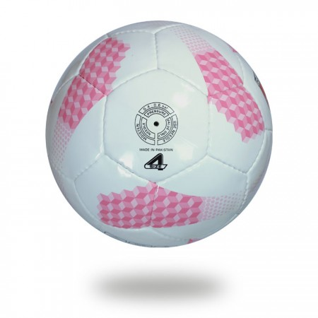 Futsal pro | pink and white lightweight soccer ball size 4 for youth