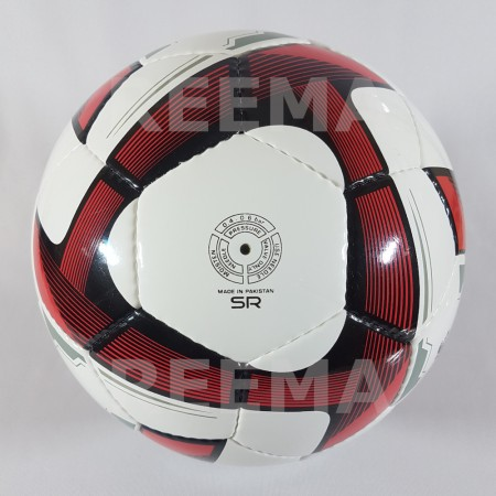 Futsal Professional | dark red triangle printed on white cover of football