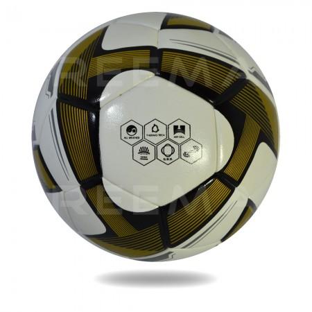 Futsal Samba 2020 | Football in white and dark goldenrod triangle use for printed