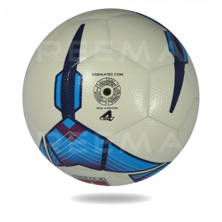 Futsal Liga 2020 | white PU cover with  blue design printed training soccer ball