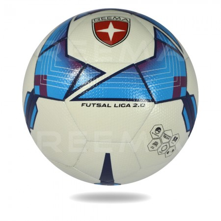 Futsal Liga 2020 | white PU cover with  blue design printed training football