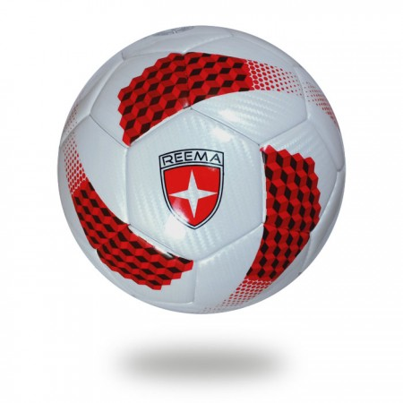Galaxy | Thermo Bonded White and red soccer ball