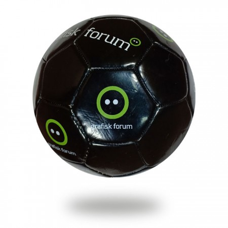 Grafisk Forum | black machine stitched soccer ball for kids