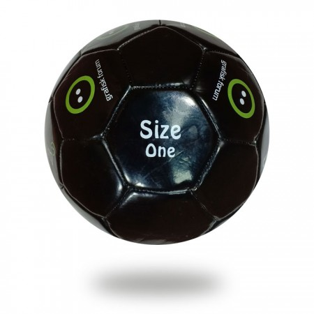 Grafisk Forum | best soccer ball for kids Black PU printed with Green and white ink