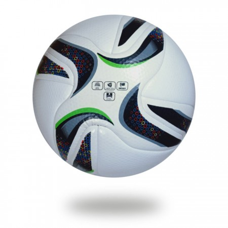 Grand Stade | soccer ball upper cover is white, crescent draw on it with black and green color