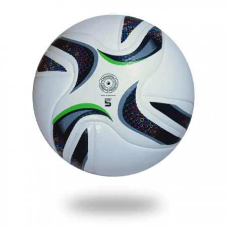 Grand Stade | all club use this football for top comp white cover with black and green design