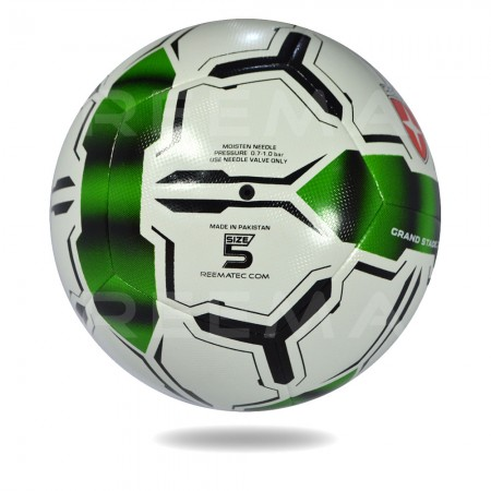 Grand Stand 2020 | white and seagreen  top competition nice design soccer ball for youth
