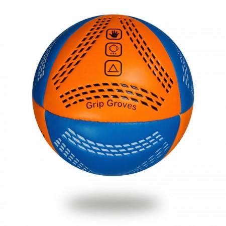 Grip Groves |  white background size 3 handball