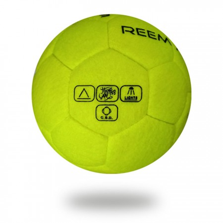 Indoor | Multiple fabric with double sheet bladder soccer ball in light green color