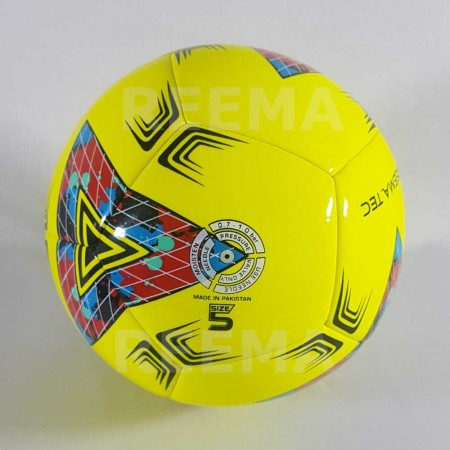 Junior 290 | Machine stitched Soccer ball which is printed with yellow color