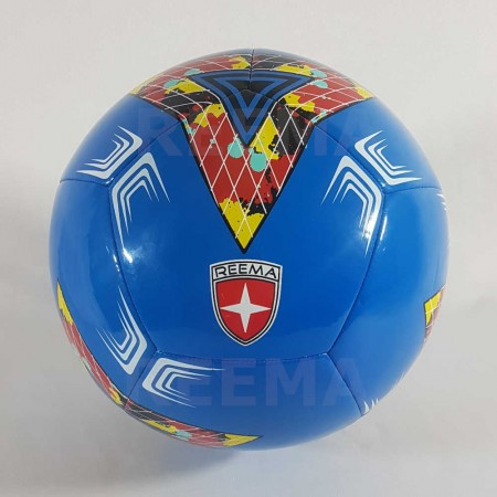Junior 350 | official size 5 soccer ball white PU with blue color design