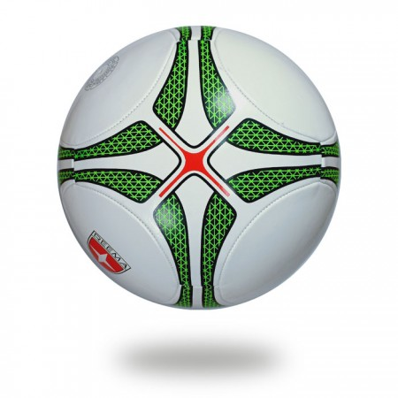 Leisure | white cover of soccer ball printed with green nice design