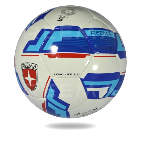 Long Life 2020   blue white PU soccer ball for clubs