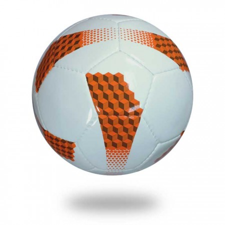 Long Life | soccer ball white and orange used for training