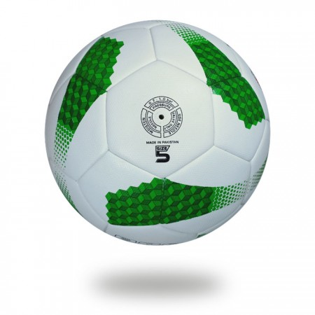 Magnum | green Cube made on white PU Material soccer ball