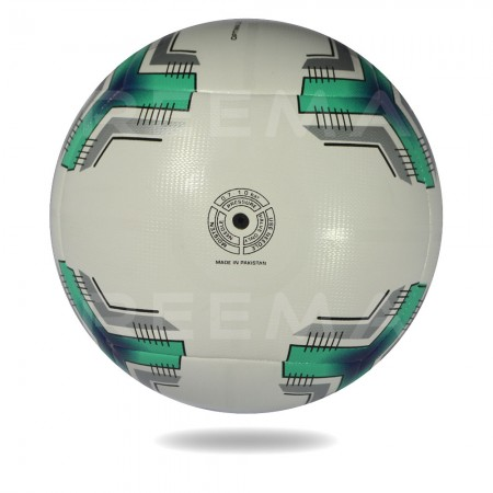 Optima 2020 | round shape soccer ball with with and dark cyan