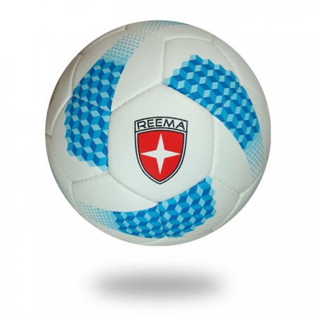 Platinum | 100% Polyester white blue soccer ball