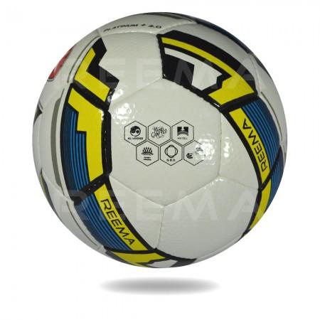 Platinum plus 2020 | EVA For Softness white and yellow soccer ball