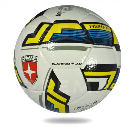 Platinum plus 2020 |  white and yellow color 12 panels soccer ball