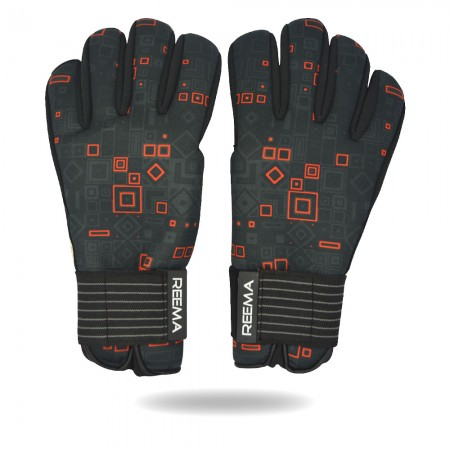 Protector Grip | excellent palm grip black red glove 7 to 8 years old players
