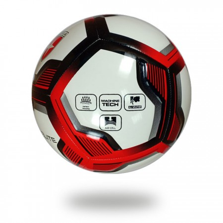 Spiro Elite | white football design heptagon with red and black color