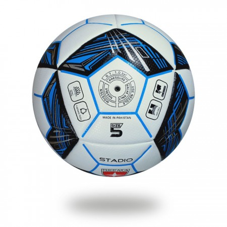Stadio | cool colors and design used on football white and blue