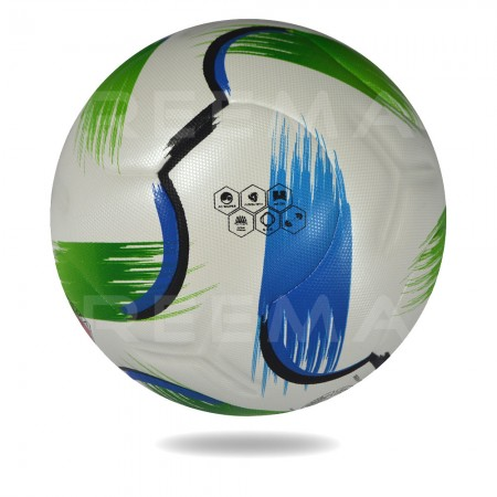 Striker 3D | white PU print Lightning green and blue top competition soccer ball