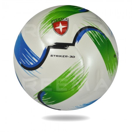Striker 3D | new soccer ball for girls and boys size 5 printed Lightning in green and blue