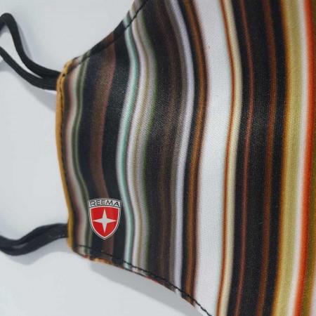 Strip Face Mask | Multicolored Stripes design face mask