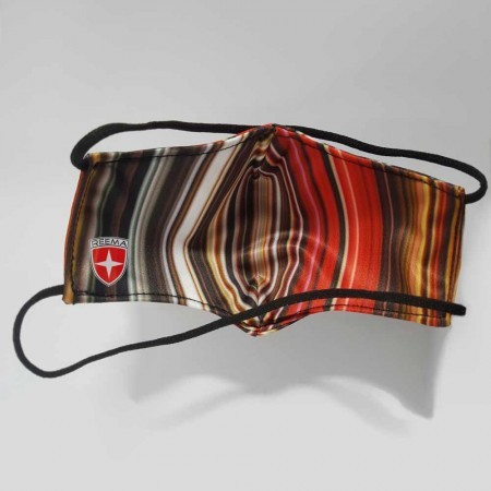 Strip Face Mask | Multicolored Stripes face mask with  White background Head loop