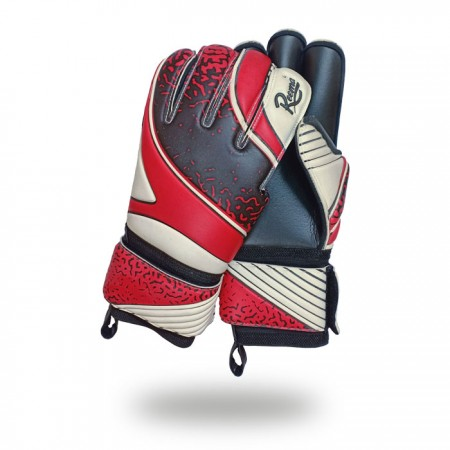 Strong Reflex Pro | white background hockey and cricket players gloves red brown