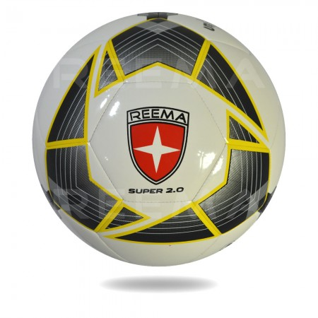 Super 2020 | 32 panels white soccer ball printed with black and yellow