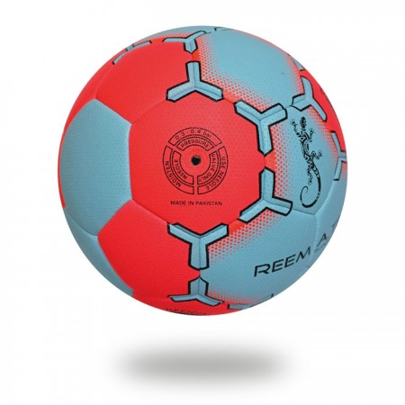 Super Grip HYB | cover of hand ball red and light blue and printed with light blue