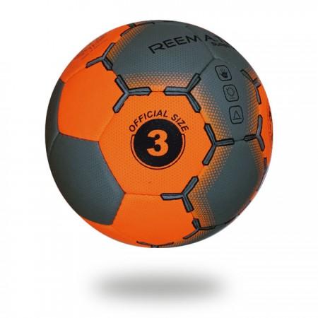 Super Grip Phantom | hand stitched ball white background orange red and dark gray printed Hand ball