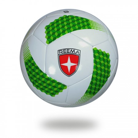 Super | forest green and light green ladders design printed on white PU soccer ball