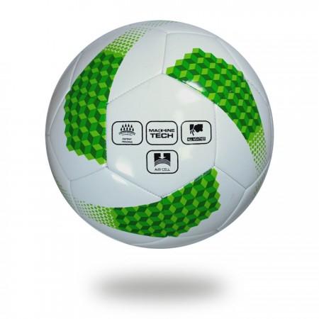 Super | 32 panel soccer ball forest green and light green ladder design printed
